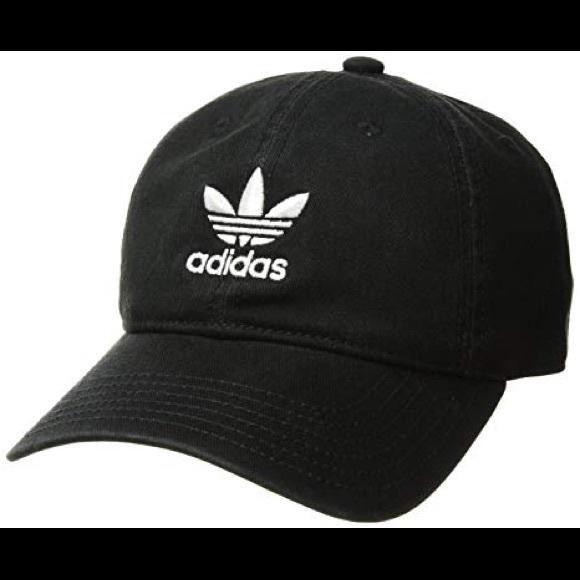 08fcadd2376 NEW BLACK ADIDAS LOGO BASEBALL CAP HAT